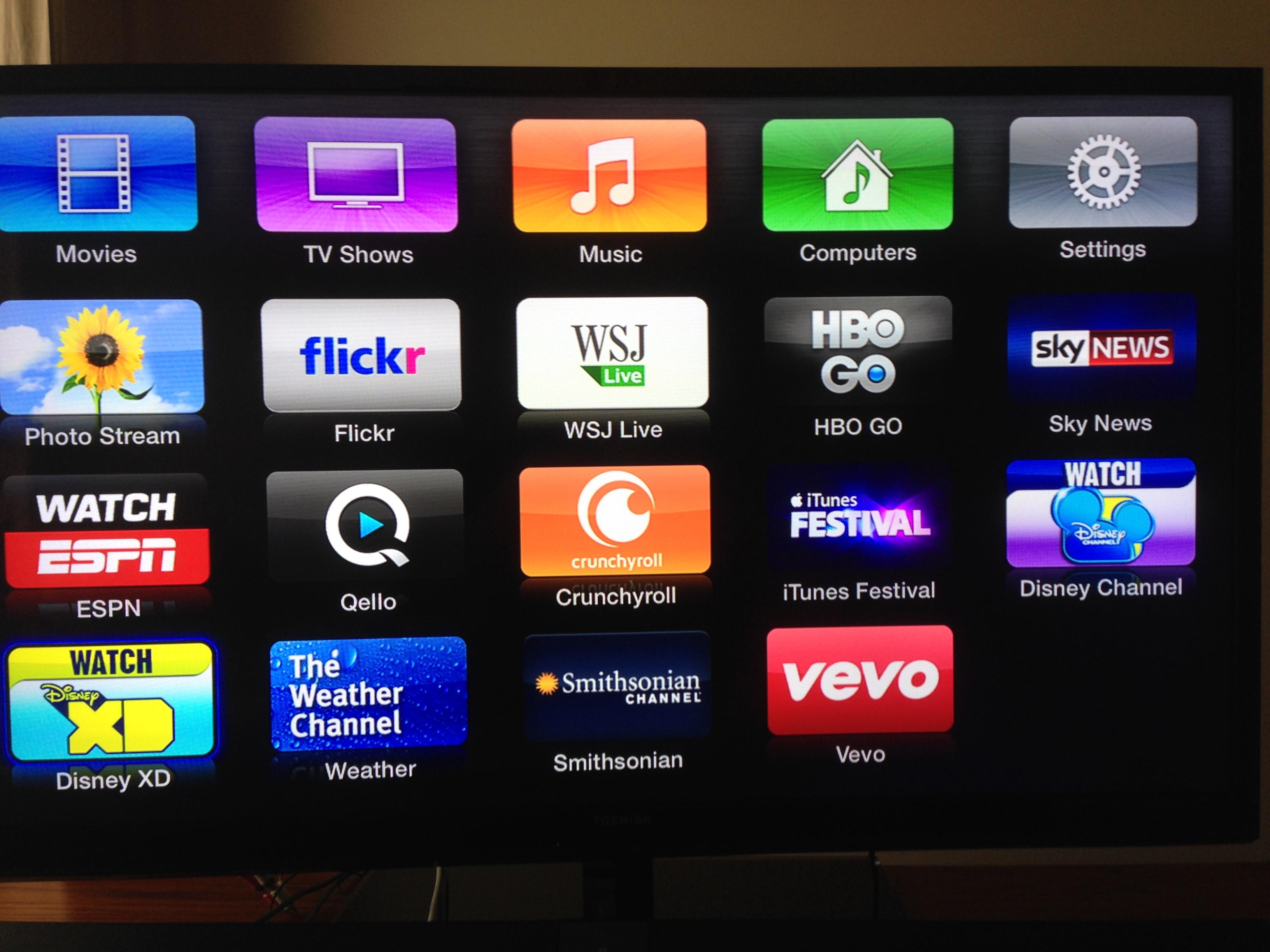 apple tv gains vevo  disney channel hd  disney xd  weather