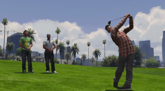Grand Theft Auto Online isn't all murder and thievery. Relax and golf with friends.