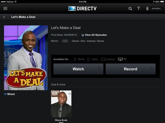 DirecTV's new iPad app shows more info about shows