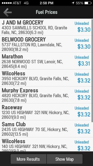 CoPilot Live GPS fuel prices