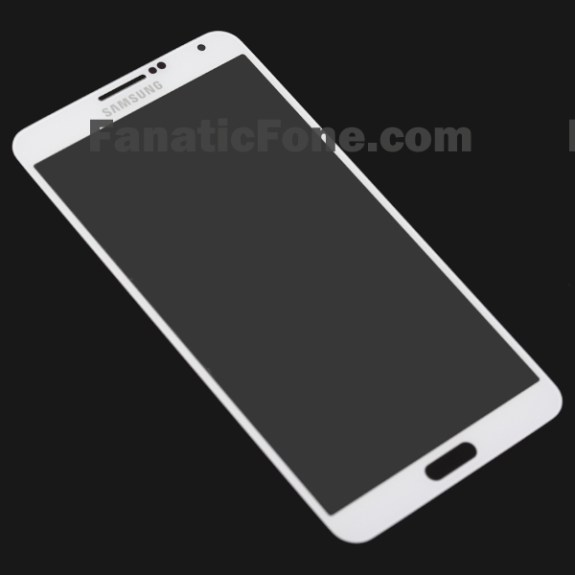 This allegedly shows the Samsung Galaxy Note 3 front panel in white.