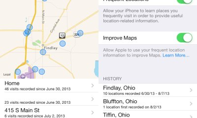 Take a look at your frequent locations in iOS 7 beta 5.