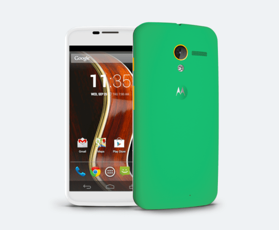 Create a custom smartphone with the Moto Maker.