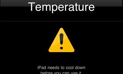 Overheated iPad