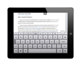 Parallels Access on iPad accessing Windows Word 2013 with Parallels Access Windows & Mac Keyboard