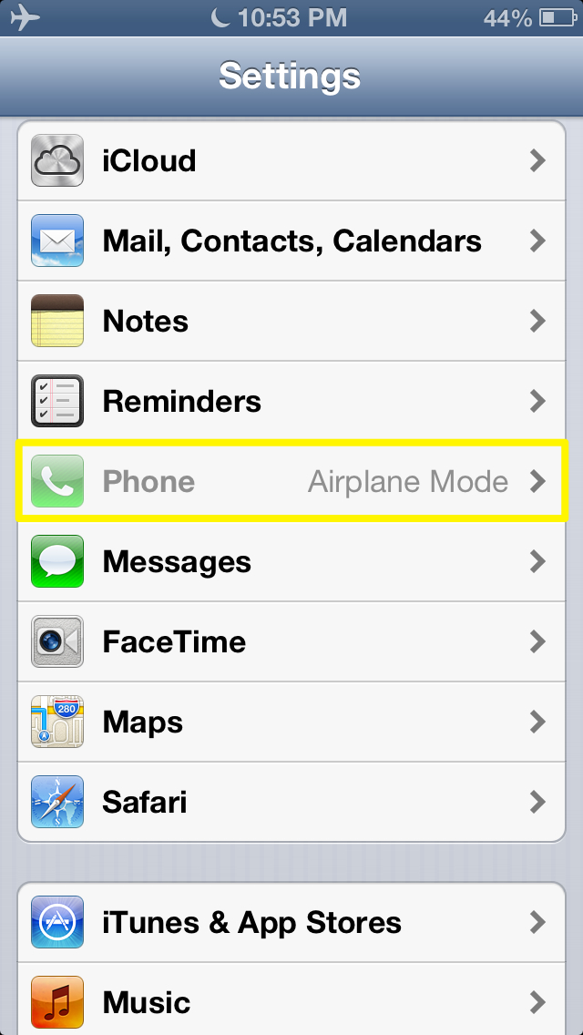 How to To Use Airplane Mode on the iPhone