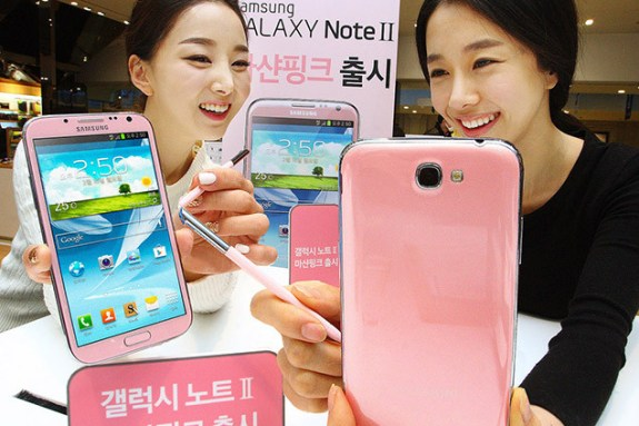 The Galaxy S4 and Galaxy Note 2 both arrived in pink.