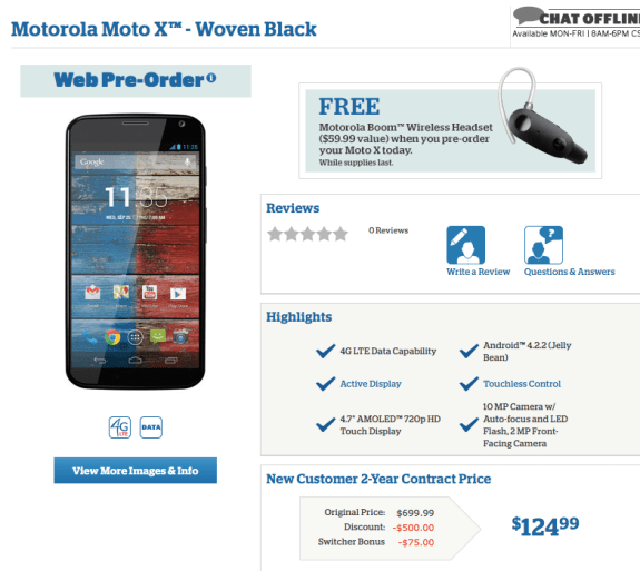 U.S. Cellular is already offering Moto X pre-orders.