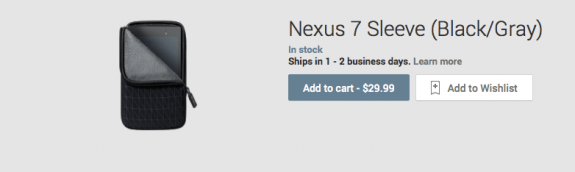 An official Nexus 7 accessory has hit the Google Play Store. But it's expensive.