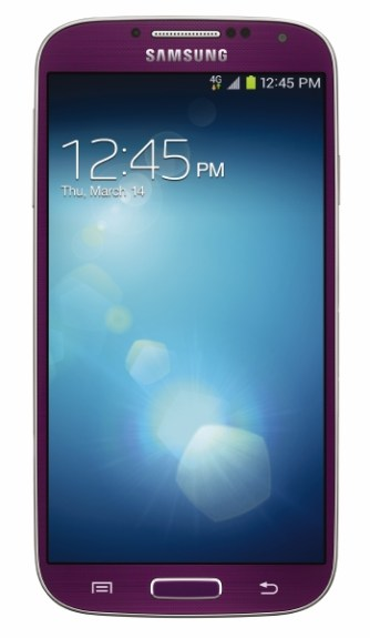 The Samsung Galaxy S4 in Purple Mirage