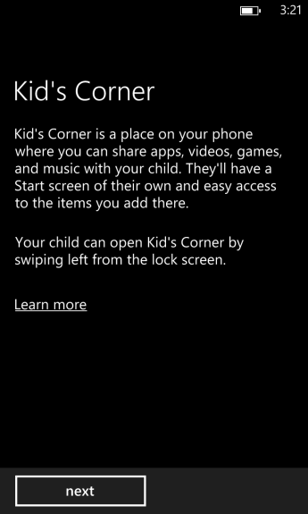how to turn on kids corner on windows phone 8 (3)
