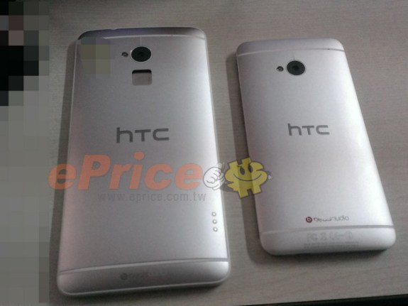 The HTC One Max could come with a fingerprint reader, a feature that is heavily rumored for the iPhone 5S.