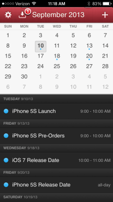 iPhone 5S and iOS 7 release date predictions.