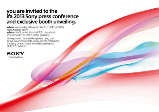 ifa 2013 sony invite