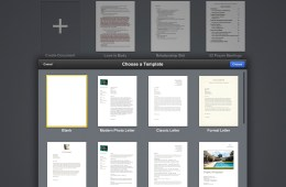 iwork pages template chooser
