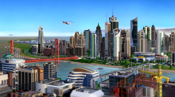 SimCity allows users to build large networks of small interdependent cities.