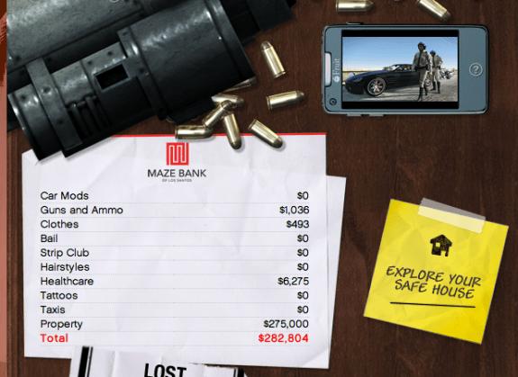 You'll need plenty of cash in GTA Online.