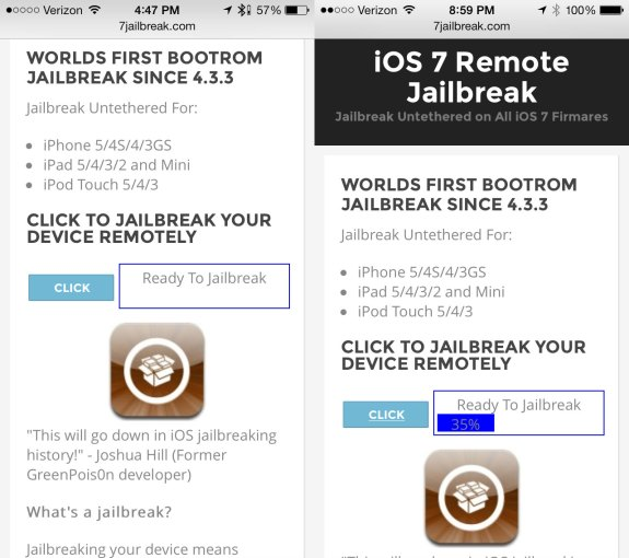 "iOS 7 jailbreak service is ""all Lies""."