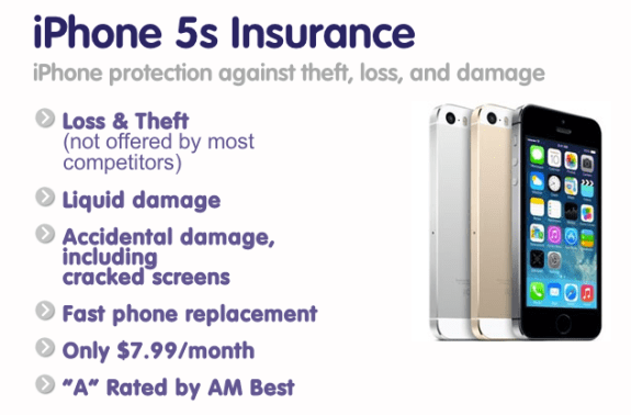 Protect Your Bubble iPhone 5s insurance