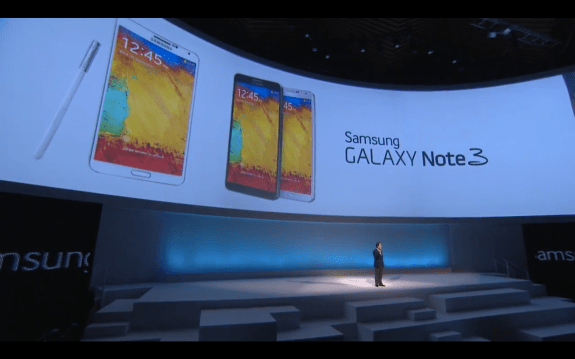 Galaxy Note 10.1 next to Galaxy Note 3 phablet.
