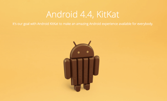 Android 4.4 KitKat is the new version of Android from Google.