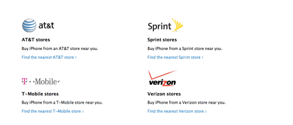 The iPhone 5S and iPhone 5C will be heading to four carriers in the U.S. on release day it seems.