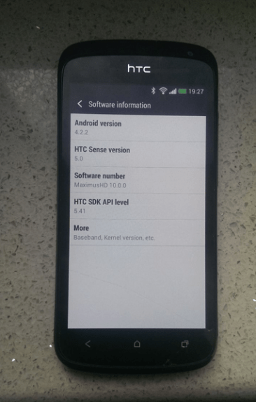 It's not clear when the update would arrive for HTC One S owners.