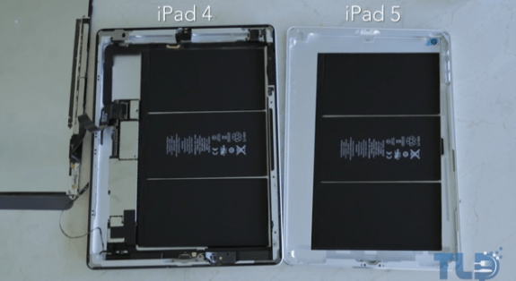The iPad 4 and the iPad 5.