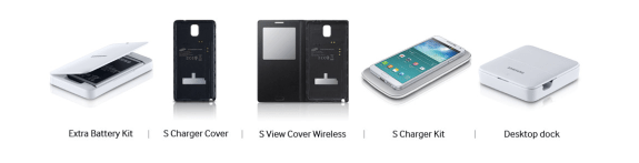 The Galaxy Note 3 will get several accessories.