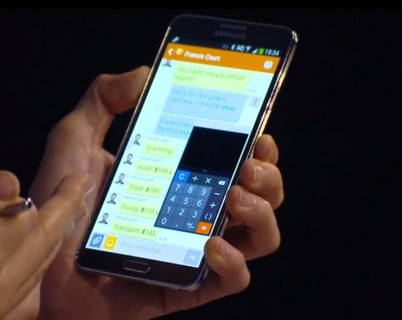 The new Pen Window mode available on the Verizon Galaxy Note 3.