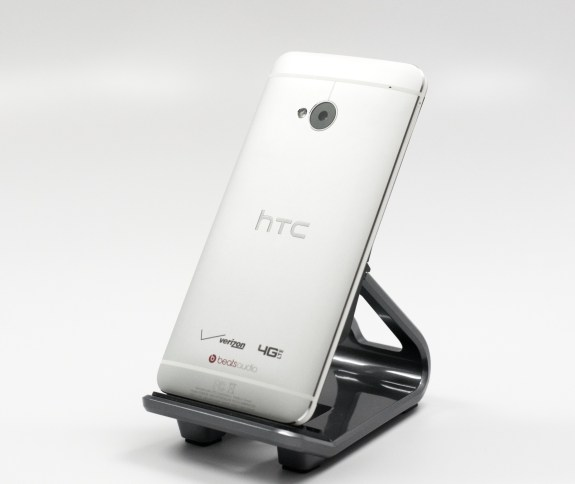 The Verizon HTC One design is aluminum and durable.