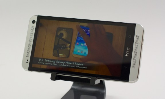 The Verizon HTC One features a 4.7-inch 1080P HD display.
