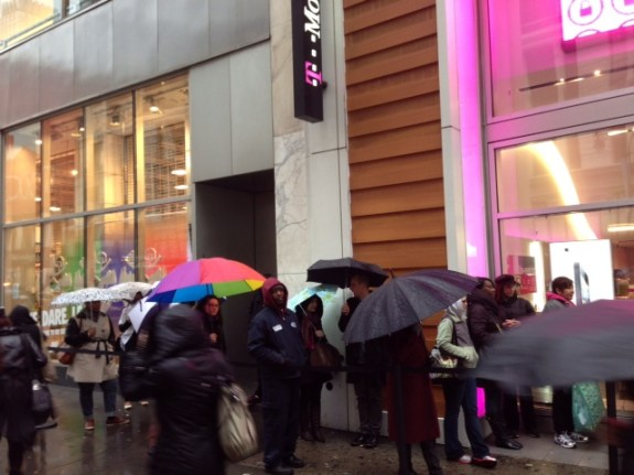Lines are typically shorter at Verizon, AT&T, T-Mobile and Sprint.
