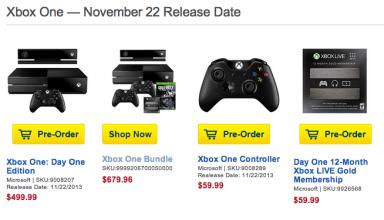 Best Buy is still taking Xbox One release date pre-orders.