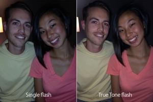 True Tone flash yields more natural skin tones
