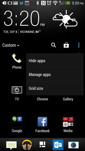 how to customize the app drawer on the HTC One (5)