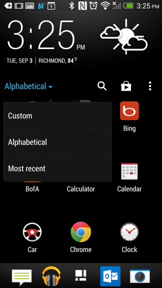 how to customize the app drawer on the HTC One (8)