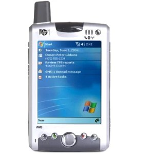 Old Windows Mobile Pocket PC Phone.
