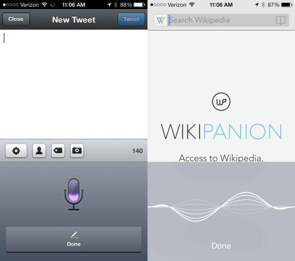 Conflicting looks in iOS 7 thanks to third party apps.