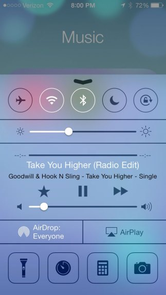 Here's what you can change in the iOS 7 Control Center.