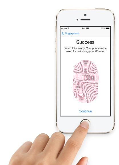 The iPhone 5S fingerprint sensor secures the iPhone with your fingerprint.
