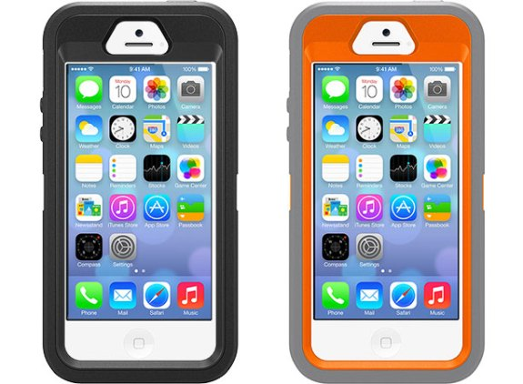 The new Otterbox iPhone 5S case does not cover the home button Touch ID sensor.