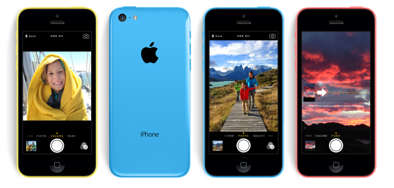 The iPhone 5c uses the same camera from the iPhone 5.