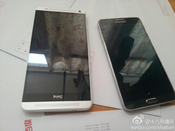 The HTC One max is clearly bigger than the Galaxy Note 3.