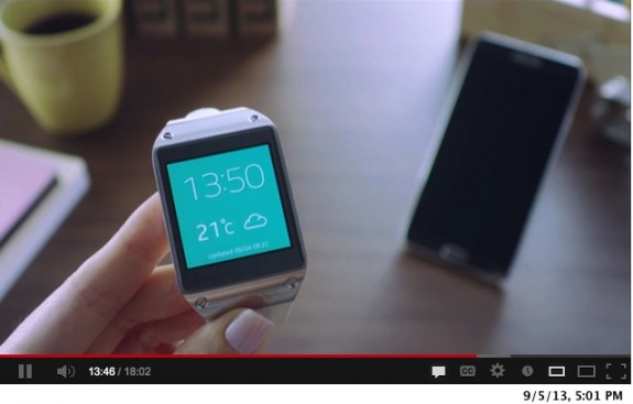 samsung galaxy gear video