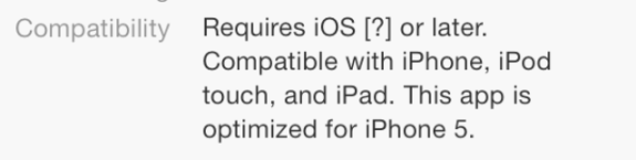 The alleged requirements for the updated iBooks application captured by 9to5Mac.