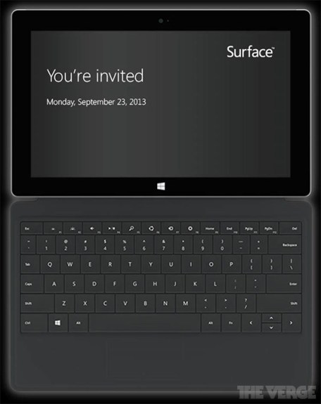 The Suface Event invitation sent to The Verge.
