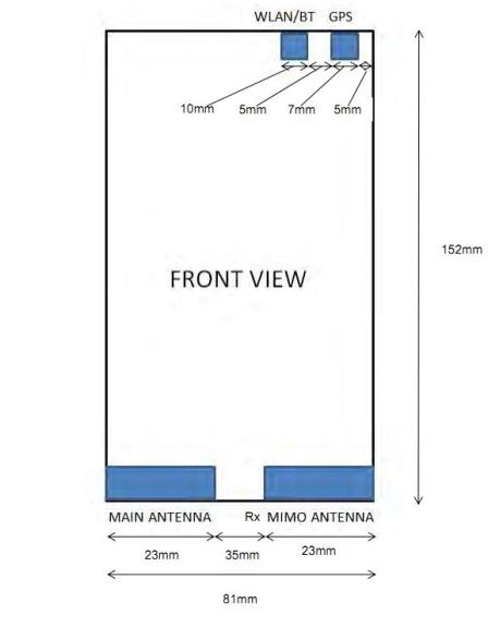Illustrations of the Lumia 1520 filed with the FCC.