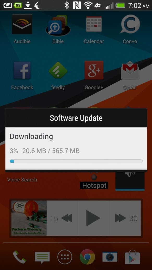 HTC One Android 4.3 Update progress