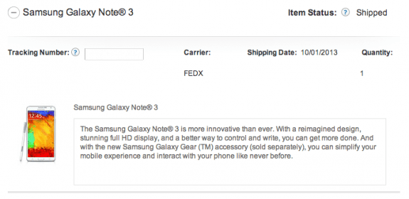 Check AT&T's website to see if your Galaxy Note 3 shipped.